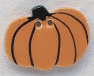 86034 - Harvest Pumpkin 1 1/8in x 3/4in - 1 per pkg